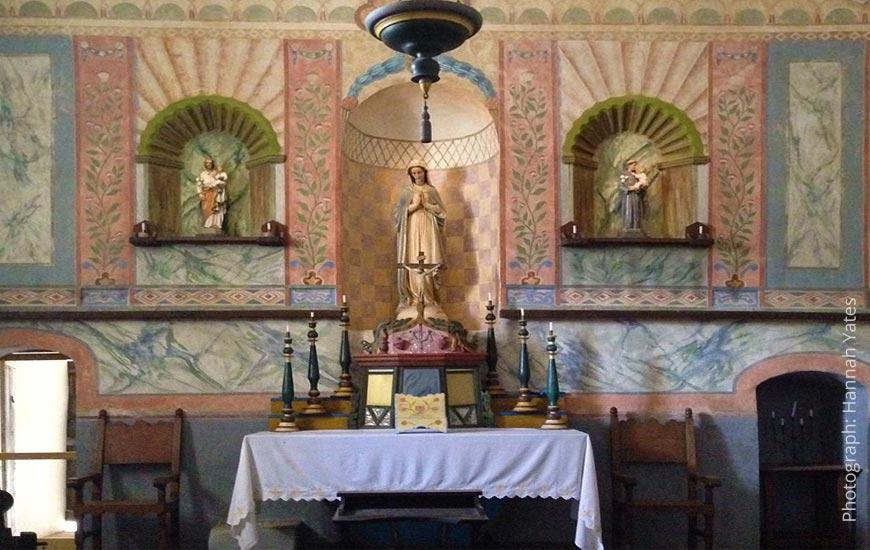 altar at historic mission