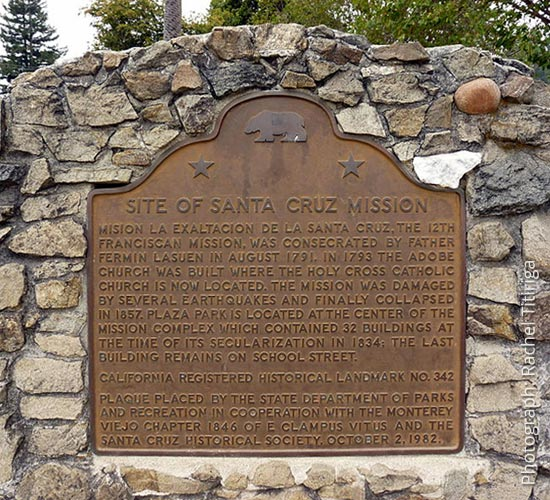 Santa Cruz Mission Plaque