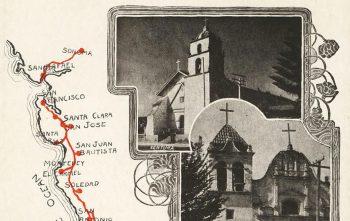 antique mission trail postcard