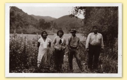 Allison Herrera's family near Toro Creek